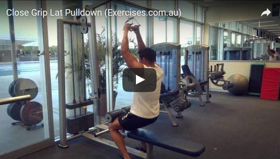 Close Grip Lat Pulldowns