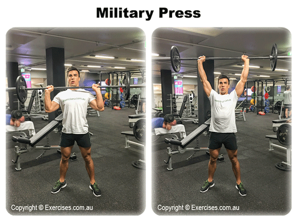 how to perform the military press the push jerk