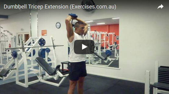 Dumbbell Tricep Extensions