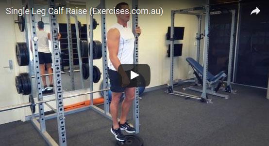 Single Leg Calf Raises