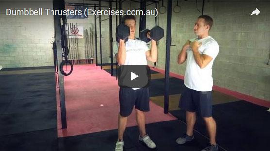 dumbbell thrusters exercisescomau