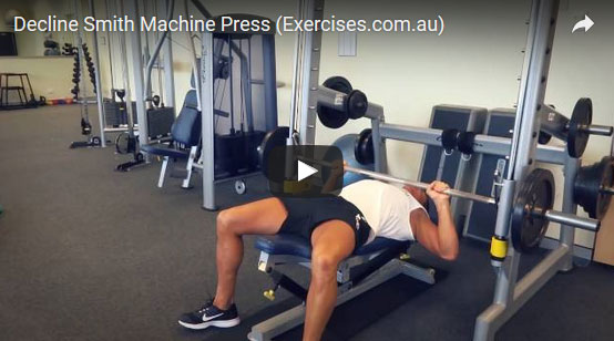 Decline Smith Machine Press