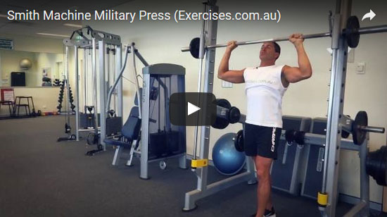 Smith Machine Military Press