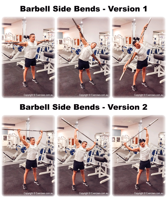 Barbell Side Bends