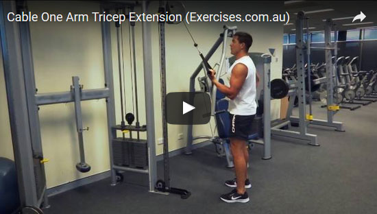 Cable One Arm Tricep Extensions