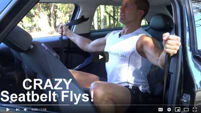 Car Exercises Seatbelt Flys