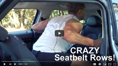 Car Exercises Seatbelt Rows