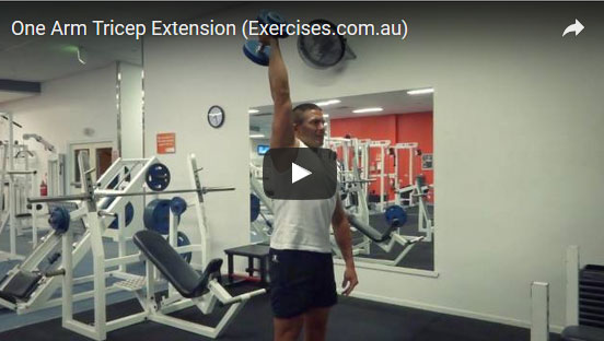 One Arm Tricep Extensions