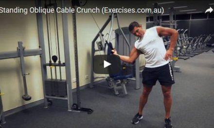 Standing Oblique Cable Crunch