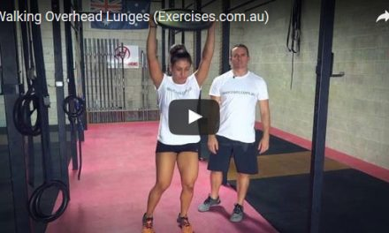 Walking Overhead Lunges