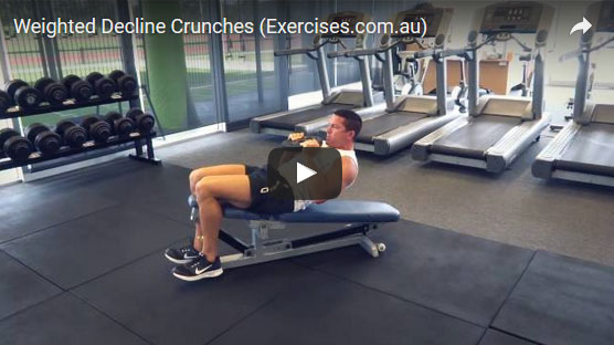 weighted decline crunches exercisescomau