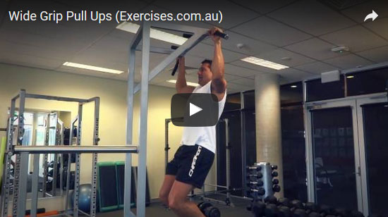 Wide Grip Chin Ups