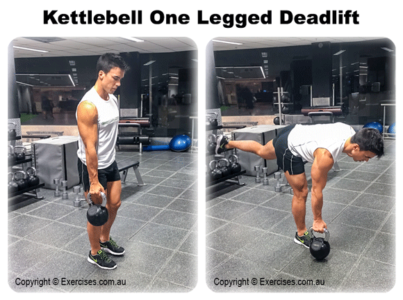 Kettlebell One Legged Deadlift