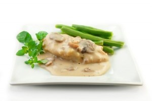 Chicken With Mushroom White Sauce Recipe