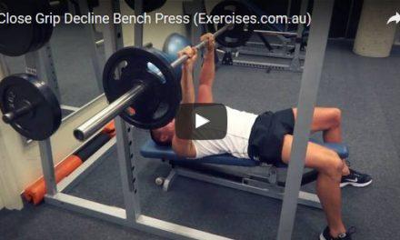 Close Grip Decline Bench Press