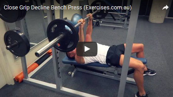 Close Grip Decline Bench Press