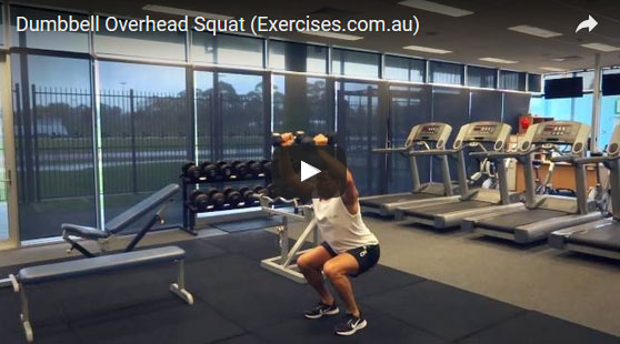 Dumbbell Overhead Squats