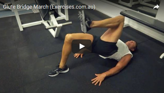 Glute Bridge March