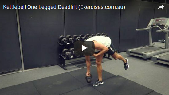 Kettlebell One Legged Deadlifts