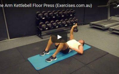 One Arm Kettlebell Floor Press
