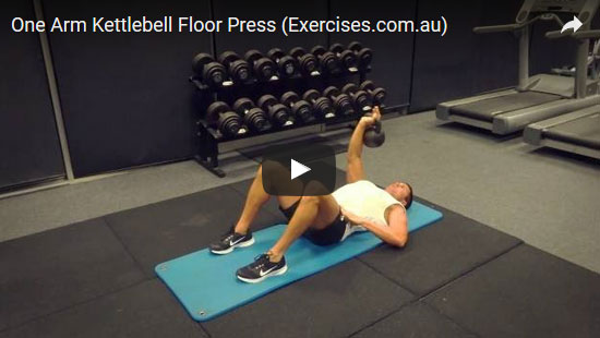 One Arm Kettlebell Floor Press