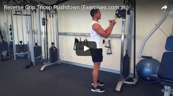 Reverse Grip Tricep Pushdown