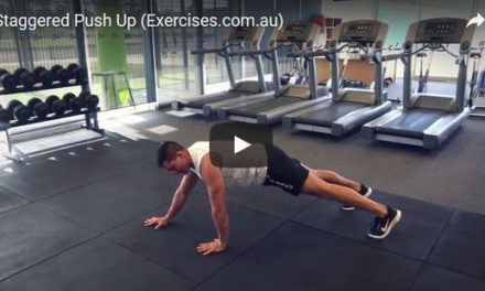Staggered Push Up