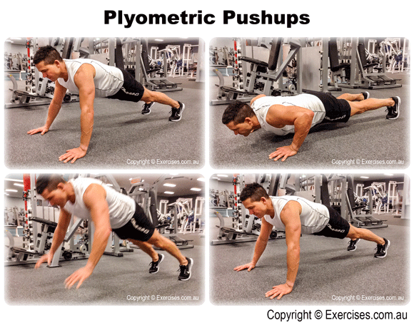 Plyometric Pushups