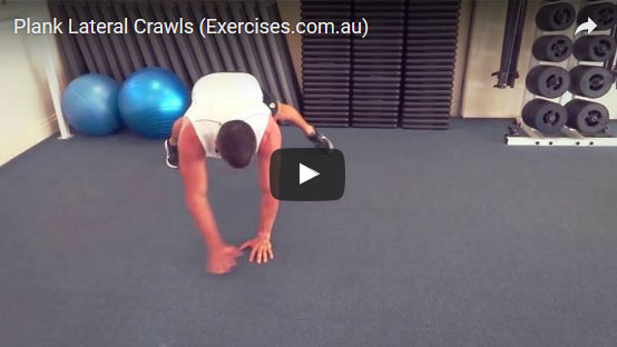 Plank Lateral Crawls