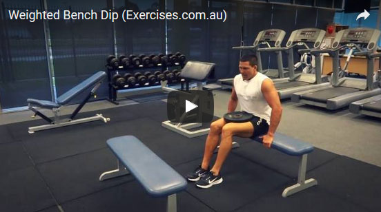 Pleasant Weighted Bench Dip Quick 1 42 Min Expert Video Pdpeps Interior Chair Design Pdpepsorg