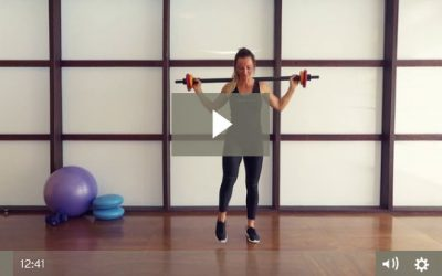 Barbell Lower Body Circuit (12 mins)
