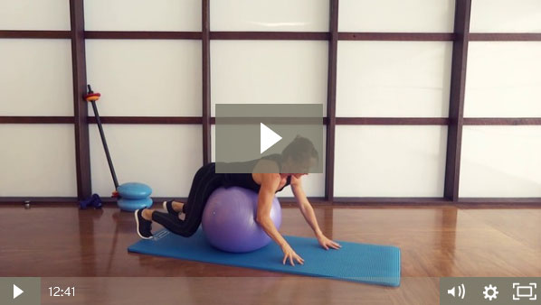 Stability Ball Workout (12 mins)