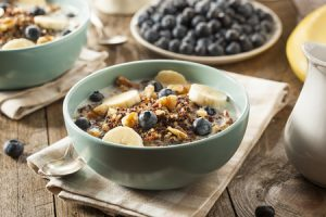 Coconut Blueberry Noatmeal with Cinnamon and Walnuts Recipe