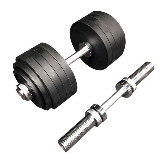 107kg Cast Iron Adjustable Olympic Dumbbells Australia