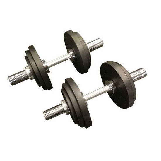 47kg Cast Iron Adjustable Spin Lock Olympic Dumbbells