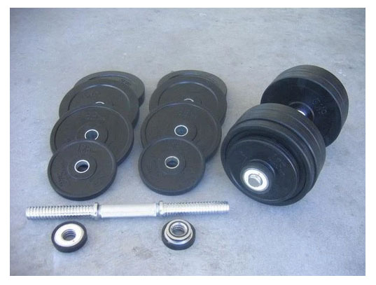 60kg Rubber Dumbbell Set Australia
