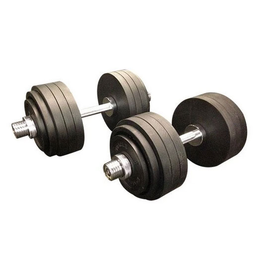 87kg Cast Iron Adjustable Olympic Dumbbells Australia